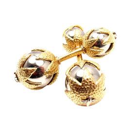 Tiffany & Co. Schlumberger 18K White Yellow Gold Cufflinks