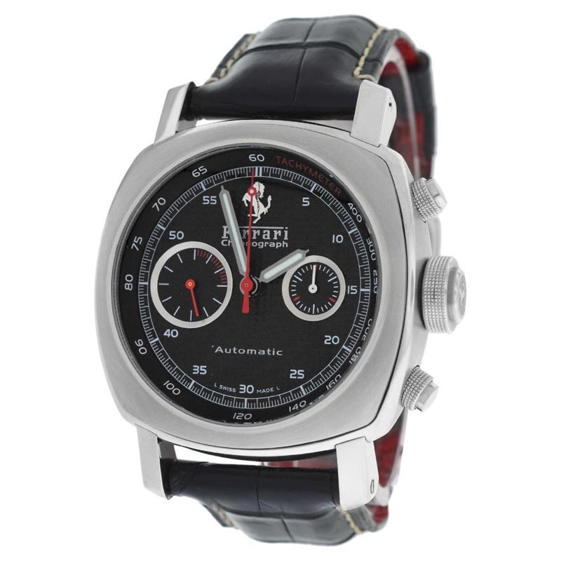 "Image of ""Panerai Ferrari F 6656 Chronograph Stainless Steel Automatic Watch"""