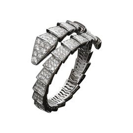 Bulgari Serpenti 18K White Gold Pave Diamond Bracelet