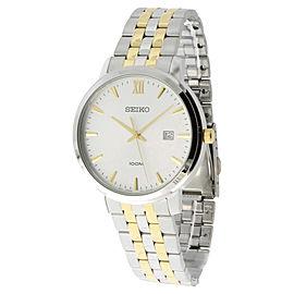 Seiko SUR121 White Dial Two Tone Stainless Steel Men's Watch