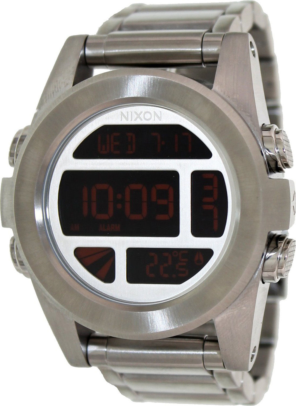 """Image of """"Nixon A3601263 Unit Black Digital Dial Stainless Steel Automatic Men's"""""""