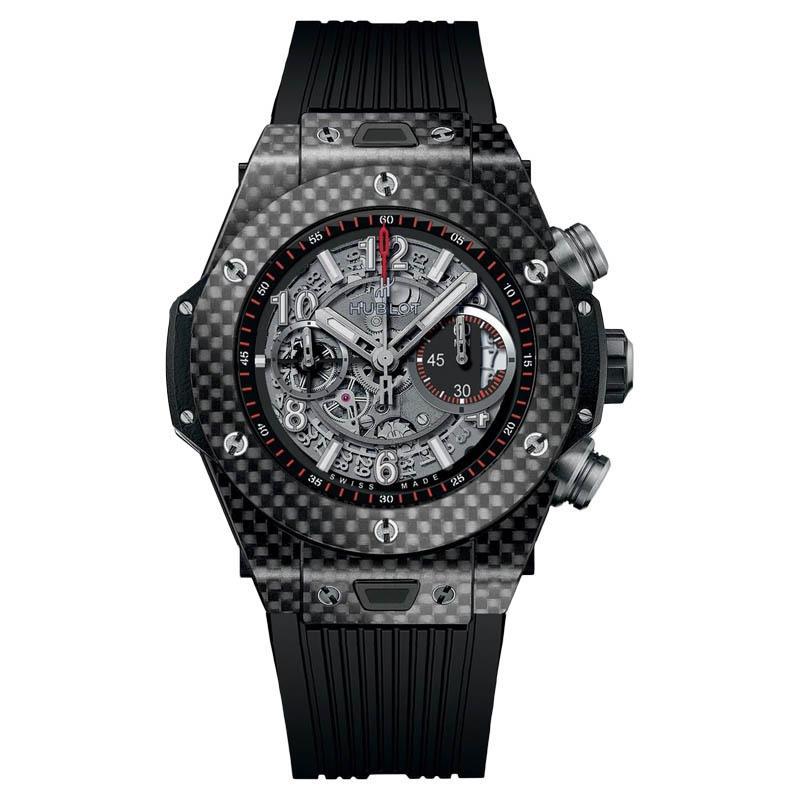 """Image of """"Hublot Big Bang Unico 45mm 411.qx.1170.rx Carbon Fiber 45mm Watch"""""""