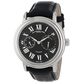 Raymond Weil 2846-STC-00209 Maestro Stainless Steel Automatic Black Faux-Leather Mens Watch