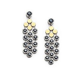John Hardy 18K Yellow Gold & Sterling Silver Hematite Dot Chandelier Earrings