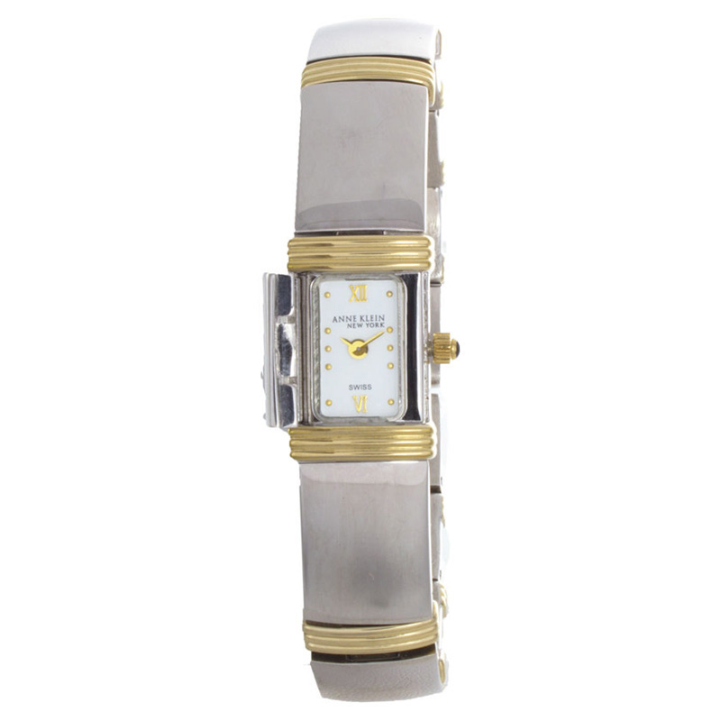 "Image of ""Anne Klein 12/6545 Two-Tone Metal Clasp Dial Womens Watch"""