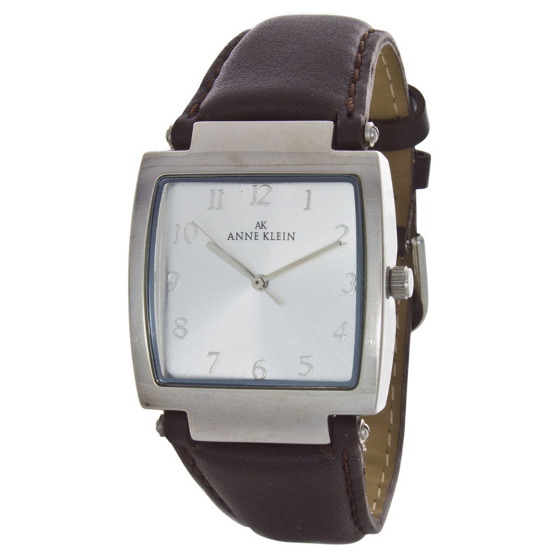"Image of ""Anne Klein 10/1797 Stainless Steel & Leather 33mm Watch"""