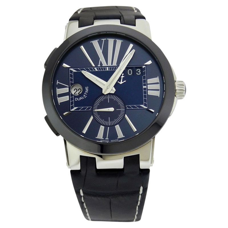 """Image of """"Ulysse Nardin Executive Dual Time 243-00 Blue Stainless Steel 43mm"""""""