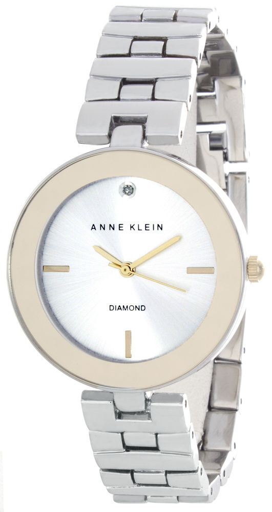 "Image of ""Anne Klein Ak/2077Svtt Silver Dial Metal Bracelet Womens Watch"""