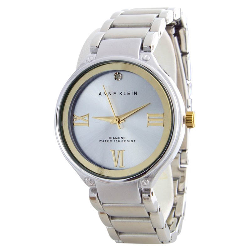 "Image of ""Anne Klein Ak/1283Svtt Silver Roman Number Dial Stainless Steel Womens"""