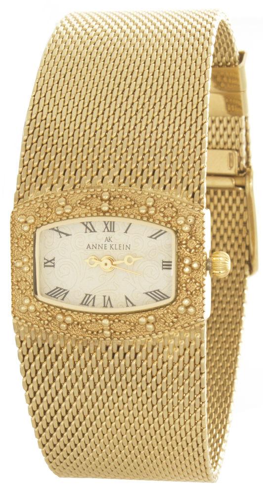 "Image of ""Anne Klein 10/6416 Gold-Tone Dial Gold Tone Metal Mesh Bracelet"""