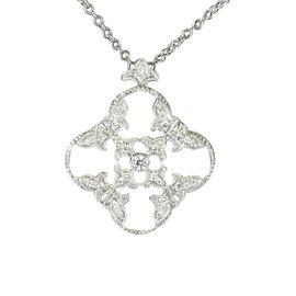 Leslie Greene 18K White Gold Diamond Pendant Necklace