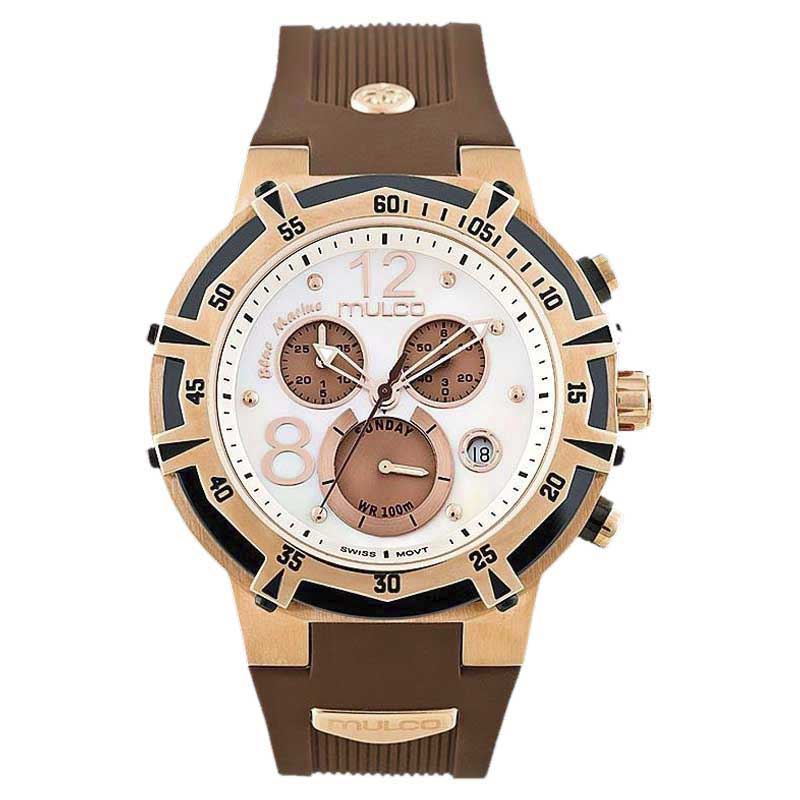 """Image of """"Mulco Mw1-29903-031 Rose Gold-Tone Stainless Steel 43mm Mens Watch"""""""