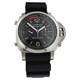 Panerai Luminor 1950 PAM00526 Titanium 3-Day Chronograph Flyback Regatta Black Dial 47mm Watch