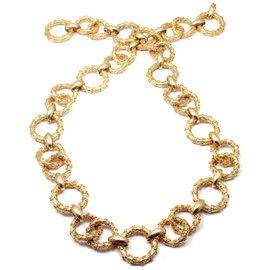 Hammerman Brothers 14K Yellow Gold Link Bracelet Necklace