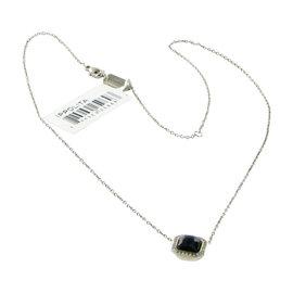 Ippolita 925 Sterling Silver Stella 0.11ct Diamond Square Black Onyx Necklace