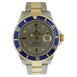 Rolex Submariner 16613 Stainless Stee &l 18K Yellow Gold Custom Dial
