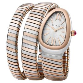 Bvlgari Serpenti Stainless Steel & 18K Rose Gold 35mm Watch