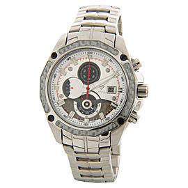 Aqua Master #336 Silver Tone Stainless Steel Chronograph Quartz Date 43mm Watch