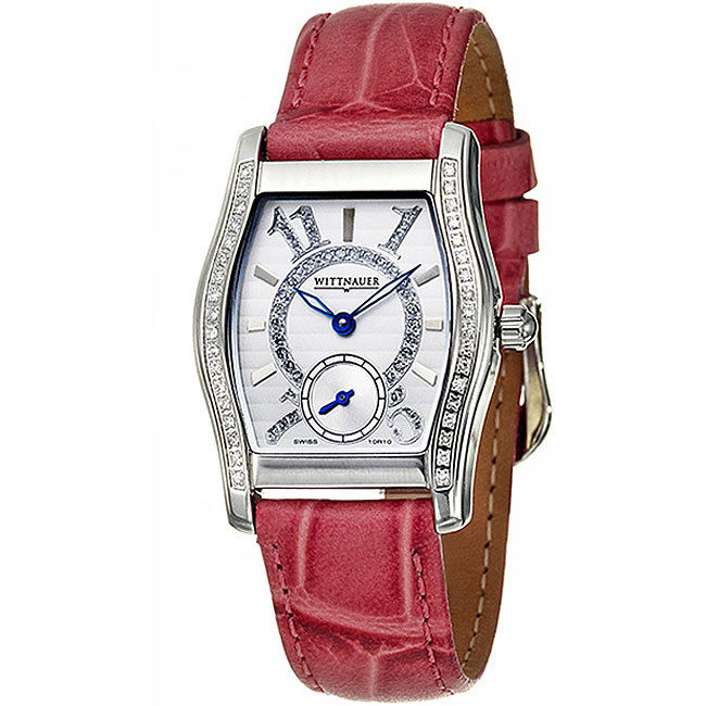 "Image of ""Wittnauer Belasco Stainless Steel & Leather 29mm Watch"""