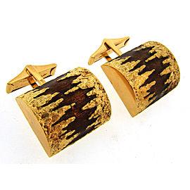 Cartier 18K Yellow Gold Enamel Cufflinks