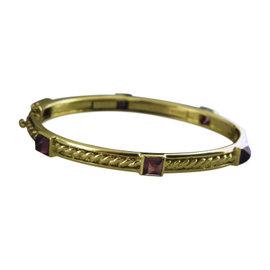 Judith Ripka 18K Yellow Gold Tourmaline Oval Bangle Bracelet