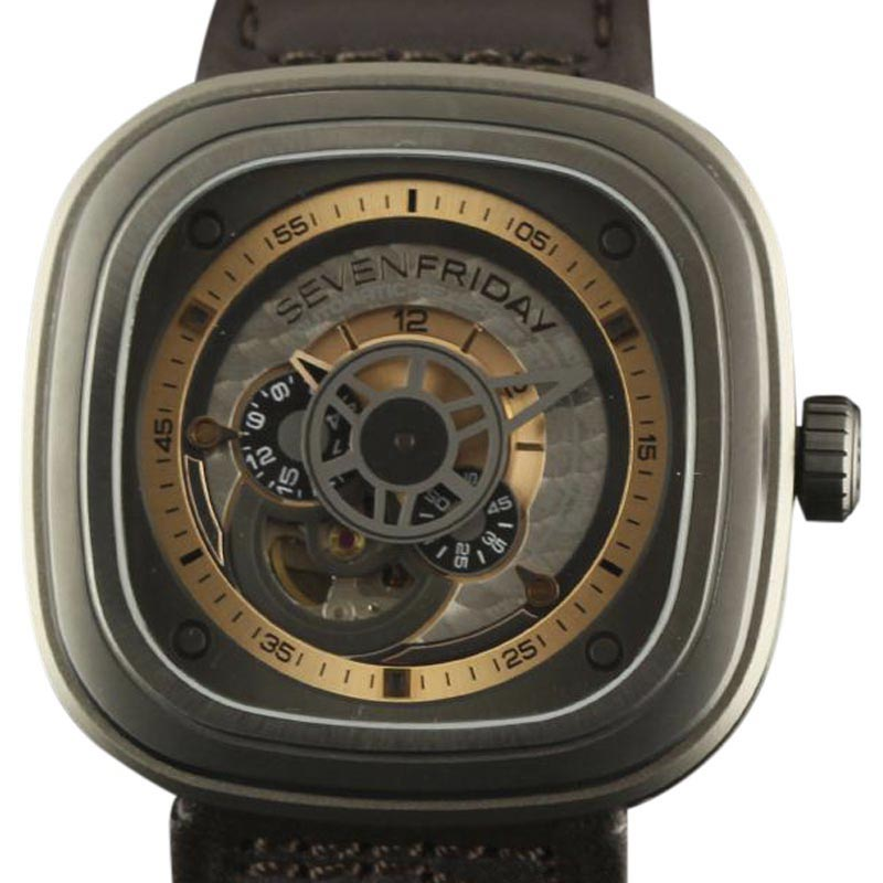 """Image of """"Sevenfriday Industrial Revolution P2-01 Stainless Steel / Leather"""""""