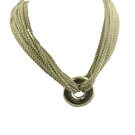 Tiffany & Co. 925 Sterling Silver Multi Strand Circle Mesh Necklace Pendant