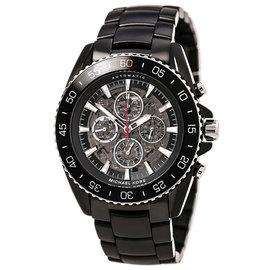 Michael Kors MK9012 Jet-Master Skeleton Dial Black IP Automatic Men's Watch