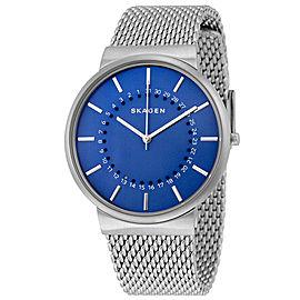 Skagen SKW6234 Ancher Blue Dial Stainless Steel Mens Watch