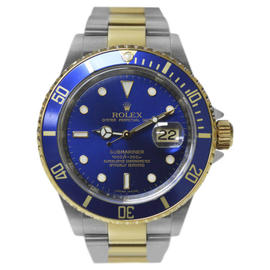 Rolex Submariner 16613 Steel 18K Gold Chronometer M serial Mens Watch