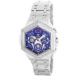 Aqua Master W#356_5 Blue Dial Stainless Steel Bracelet Diamond Mens Watch