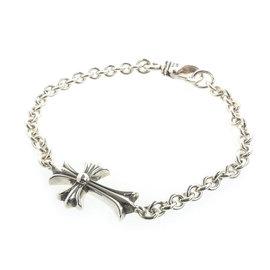 Chrome Hearts Sterling Silver Cross Chain Bracelet