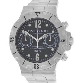 Bulgari Diagono Pro Scuba SC38S Chronometer Steel Automatic Mens Watch