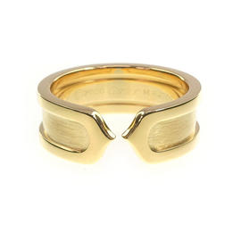 Cartier 18K Yellow Gold 2C Ring Size 4.5