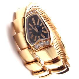 Bvlgari Bulgari Serpenti 18k Rose Gold Diamond Snake Bracelet 26mm Watch