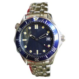 Omega Seamaster Professional 300m Stainless Steel Wave Dial 36mm Mens Watch