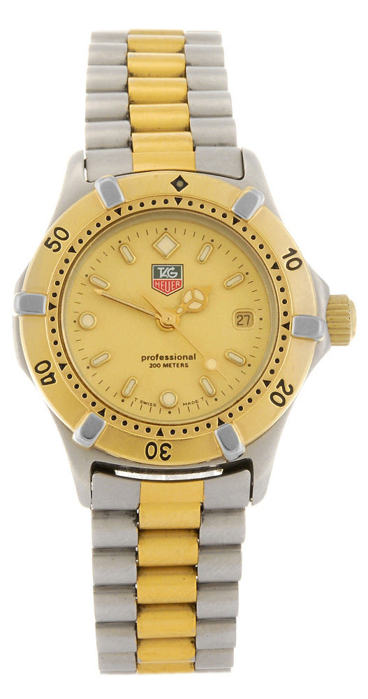 "Image of ""Tag Heuer Professional We1420-R Two-Tone Stainless Steel Quartz 28mm"""
