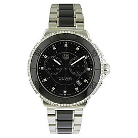 Tag Heuer Formula One CAH1212.BA0862 Stainless Steel & Ceramic Quartz Diamond 41mm Unisex Watch