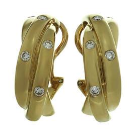 Cartier Trinity 18k Yellow Gold Diamond Wrap Earrings