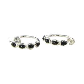 Ippolita Rock Candy Sterling Silver Black Onyx Hoop Earrings