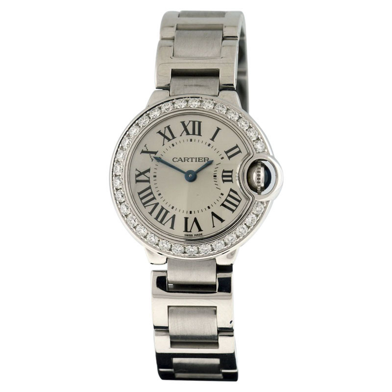 Cartier Ballon Bleu 18K White Gold Diamond 28mm Watch