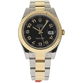Rolex Datejust II 116333BKAO 18K Yellow Gold & Stainless Steel 41mm Watch