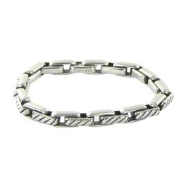 David Yurman Cable Link Sterling Silver Mens Bracelet
