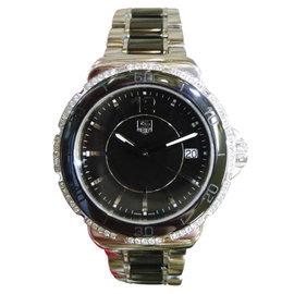 Tag Heuer Formula 1 WAH1212 Diamond Chronograph Steel Ceramic 35mm Womens Watch