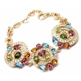 Bulgari Bvlgari 18K Yellow Gold Astrale Amethyst Tourmaline Diamond Bracelet