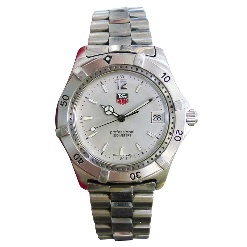 "Image of ""Tag Heuer Professional Wk1112-0 Stainless Steel 37mm Men Watch"""