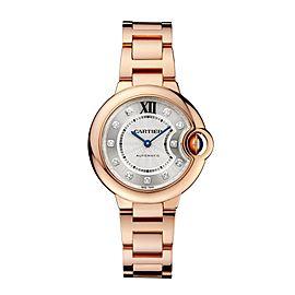 Cartier Ballon Bleu WE902039 Silver Dial 18K Rose Gold 33mm Watch
