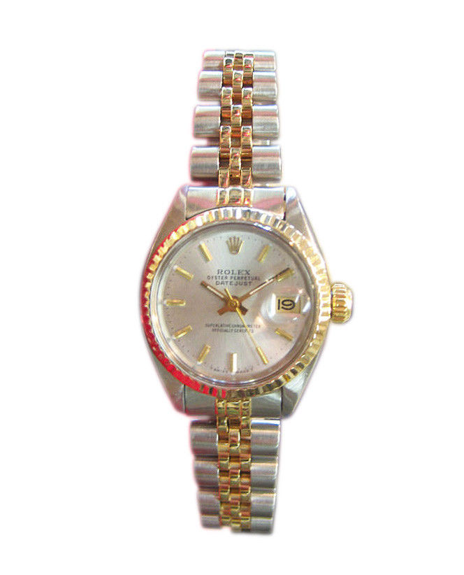 "Image of ""Rolex Oyster Perpetual Datejust 18K Yellow Gold And Stainless Steel"""