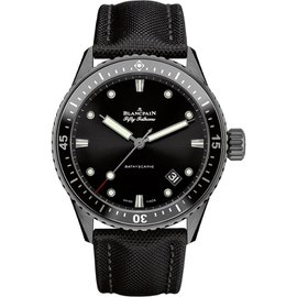 Blancpain Fifty Fathoms Bathyscaphe 5000-0130-b52a Ceramic Automatic 43mm Mens Watch