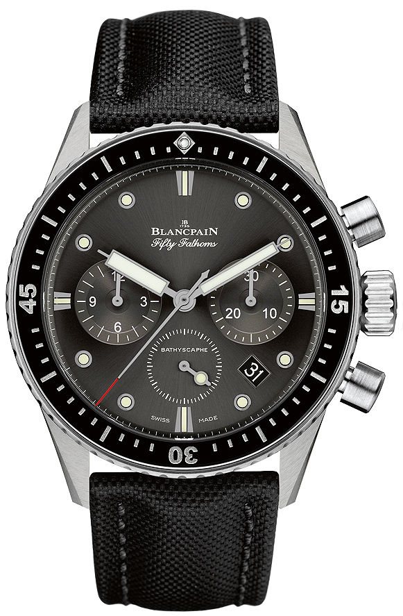 "Image of ""Blancpain Fifty Fathoms Bathyscaphe Flyback 5200-1110-b52a Stainless"""